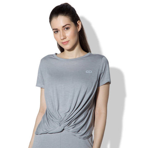 Twisted Tee Grey Melange-T-Shirt-Silvertraq-Grey Melange-XS-Silvertraq