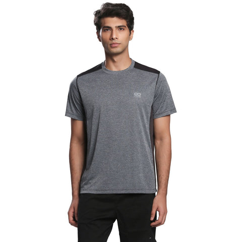 Men's Ventilated Melange T-Shirt-T-Shirt-Silvertraq-Grey-XS-Silvertraq