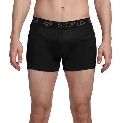 Silvertraq Body Mapping Athletic Boxer Shorts-Boxer Shorts-Silvertraq-Black-XS-Silvertraq