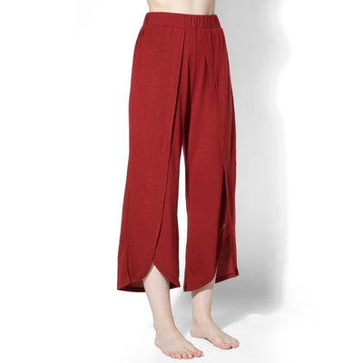 Yoga Tulip Pants Tawny Port-Pants-Silvertraq-Silvertraq