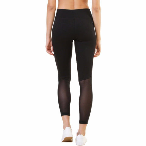 Silvertraq Performance Mesh Leggings Black-Leggings-Silvertraq-Silvertraq
