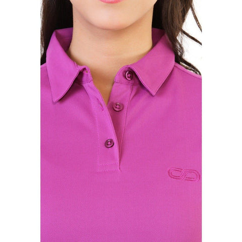 Silvertraq Women's Performance Polo Violet-Polo Shirt-Silvertraq-Silvertraq