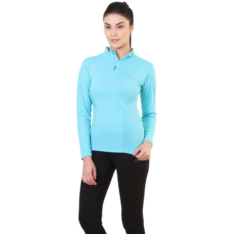 Silvertraq Women's Long Sleeve Zip Neck T-shirt