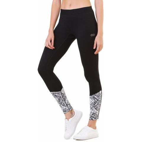 Silvertraq Training Printed Panel Leggings Tie Dye