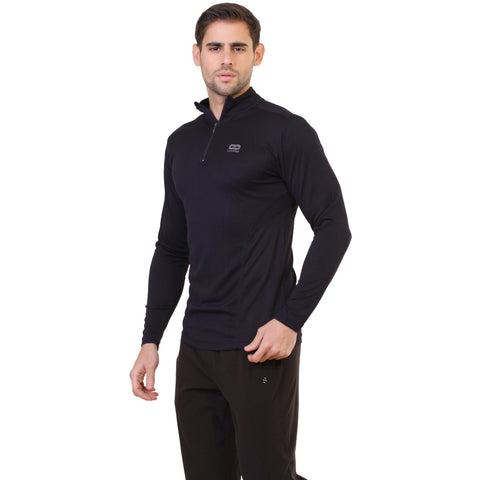 Silvertraq Men's Long Sleeve Zip Neck T-shirt