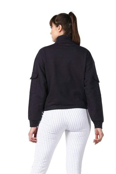 Bomber Zip Neck-Lounge Sweat Shirt-Silvertraq-Silvertraq