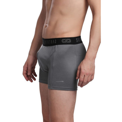 Silvertraq Body Mapping Athletic Boxer Shorts-Boxer Shorts-Silvertraq-Steel Grey-XS-Silvertraq
