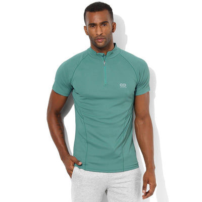 Men's Contour Training T-Shirt-T-Shirt-Silvertraq-Slate Green-XS-Silvertraq
