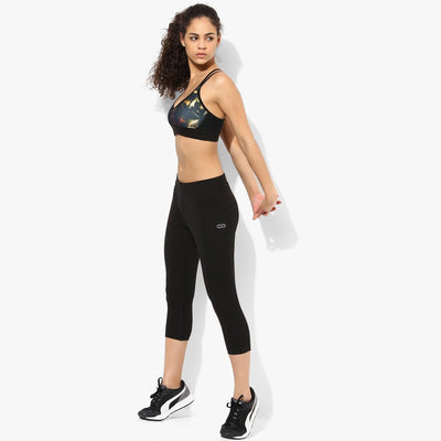 Silvertraq Women's Workout Capris Black-Capris-Silvertraq-Silvertraq