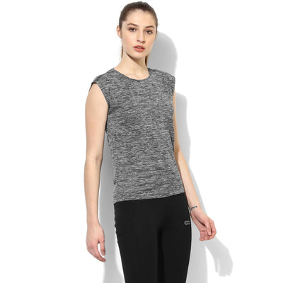 Silvertraq Women's Relax Fit T-Shirt Melange Grey-T-Shirt-Silvertraq-Silvertraq