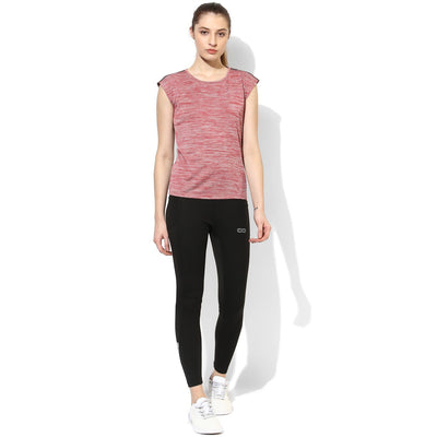 Silvertraq Women's Relax Fit T-Shirt Red Grey-T-Shirt-Silvertraq-Silvertraq