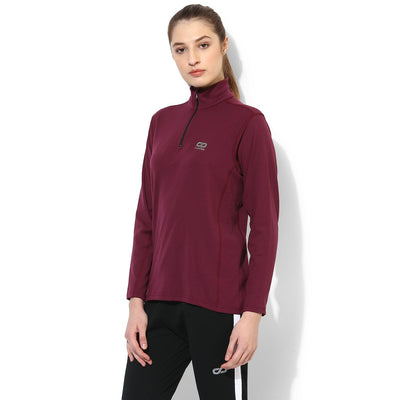 Women's Fitted Long Sleeve Roll Shirt Plum-Roll Shirt-Silvertraq-Silvertraq