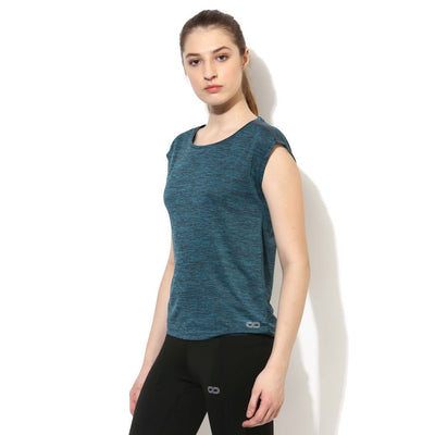 Silvertraq Women's Relax Fit T-Shirt Teal Black-T-Shirt-Silvertraq-Silvertraq