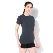 Women's Short-sleeve Stay Dry T-shirt Grey-T-Shirt-Silvertraq-Silvertraq