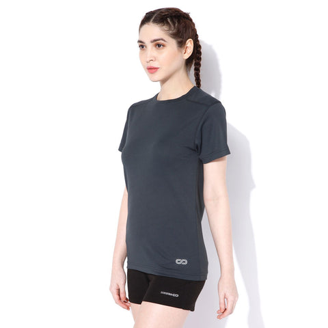 Women's Short-sleeve Stay Dry T-shirt Grey-T-Shirt-Silvertraq-Dark Grey-S-Silvertraq