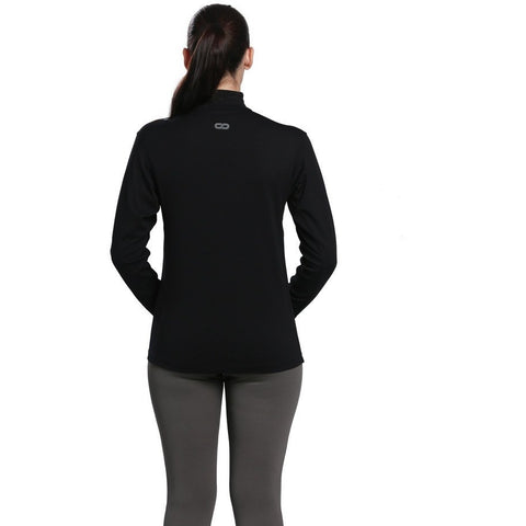 Women's Fitted Long Sleeve Roll Shirt Black-Roll Shirt-Silvertraq-Silvertraq
