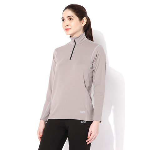 Women's Fitted Long Sleeve Roll Shirt Opal Grey-Roll Shirt-Silvertraq-Opal Grey-S-Silvertraq
