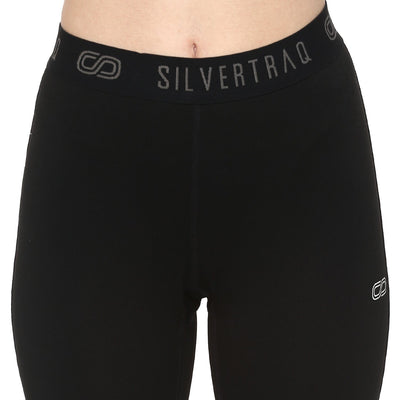 Silvertraq Women's Fitted Athletic Leggings / Yoga Pants Black