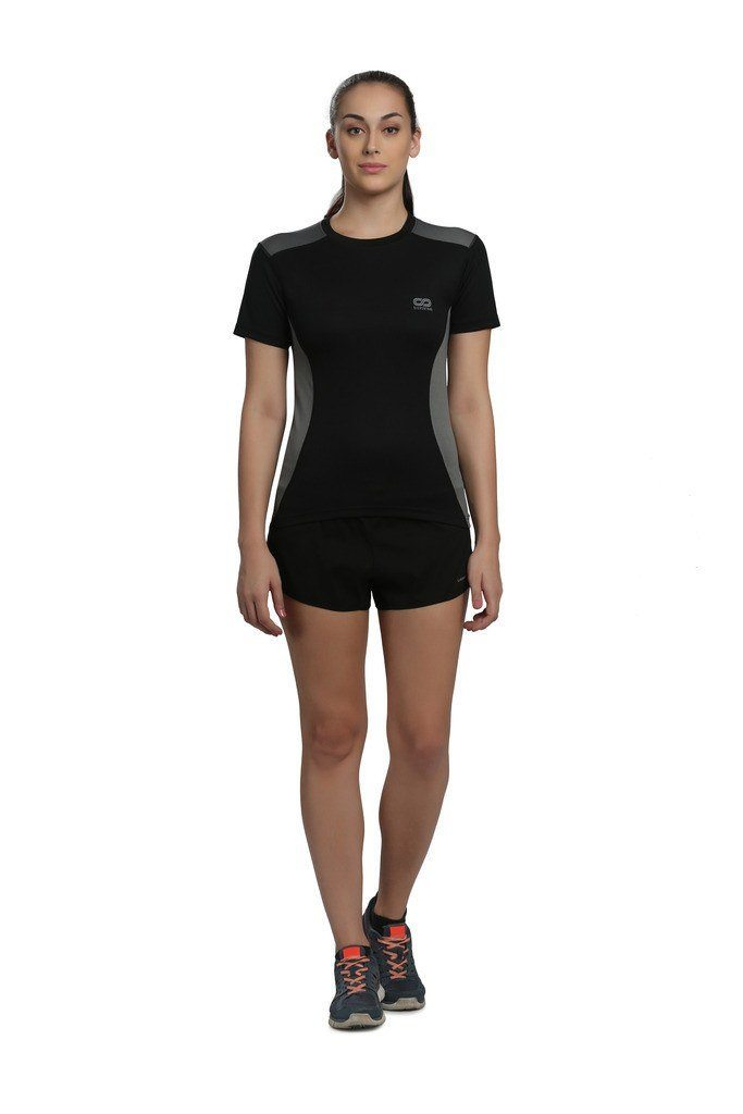 Silvertraq Women's Body Mapping T-shirt Short-sleeve Black