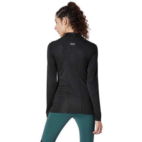 Long Sleeve Zip Neck Tee Black-Jacket-Silvertraq-Black-S-Silvertraq