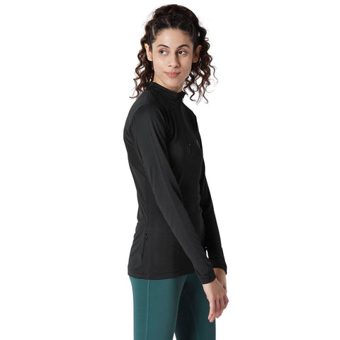 Long Sleeve Zip Neck Tee Black-Jacket-Silvertraq-Silvertraq