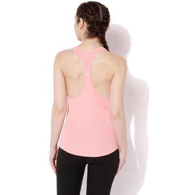 Women's T-Back Tank Top Peach Cream-Tank Top-Silvertraq-Silvertraq