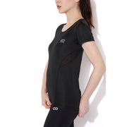 Women's Contour Training Tee Black-T-Shirt-Silvertraq-Silvertraq