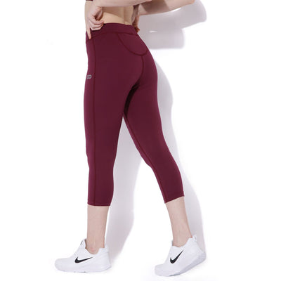 Silvertraq Women's Workout Tights Purple Potion-Capris-Silvertraq-Silvertraq