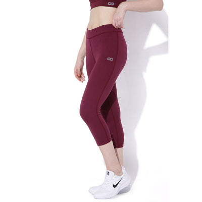 Silvertraq Women's Workout Tights Purple Potion-Capris-Silvertraq-Purple Potion-XS-Silvertraq