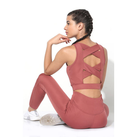 Padded Cross Back Crop Top Marsala-Top-Silvertraq-Silvertraq