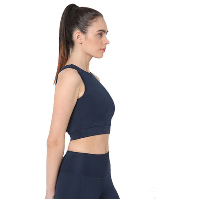 Padded Cross Back Crop Top