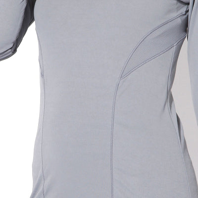Long Sleeve Zip Neck Tee Light Grey-Jacket-Silvertraq-Silvertraq
