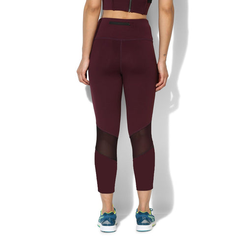 Ath Perform 7/8 High Waist Leggings Plum-Sports Leggings HWC-Silvertraq-Silvertraq