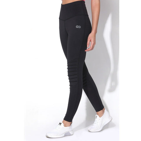 Moto Leggings Black-Leggings-Silvertraq-Silvertraq