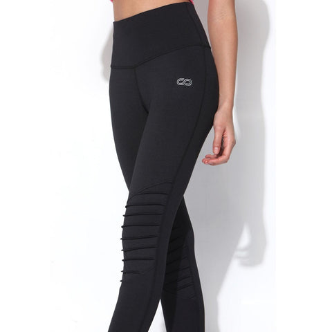 "Moto Leggings Black-Leggings-Silvertraq-Black-XS - 24 - 26""-Silvertraq"