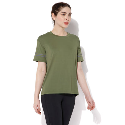 Women's Reflector Tee Cypress-Top-Silvertraq-Silvertraq