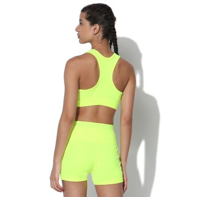Flex Sports Bra Neon Yellow-Sports Bra-Silvertraq-Silvertraq