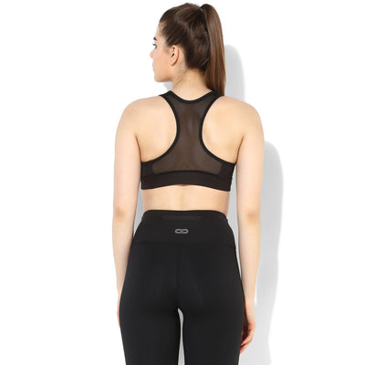 Flex Sports Bra Black-Sports Bra-Silvertraq-Black-S-Silvertraq