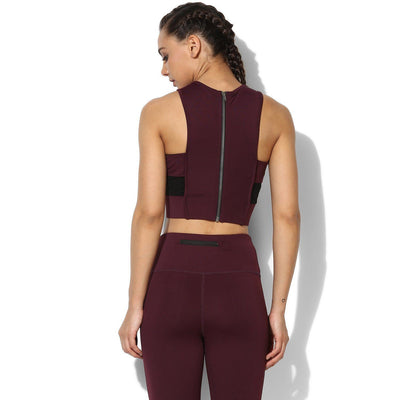 Padded Moto Crop Tee Plum-Top-Silvertraq-Plum-XS-Silvertraq