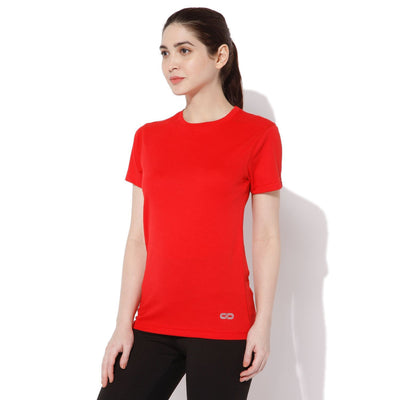 Women's Short-sleeve Stay Dry T-shirt Red-T-Shirt-Silvertraq-Bright Red-S-Silvertraq