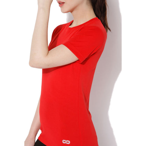 Women's Short-sleeve Stay Dry T-shirt Red-T-Shirt-Silvertraq-Silvertraq