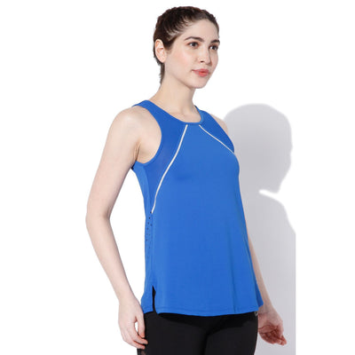 Gold Reflector Tank Pop Blue-Tank Top-Silvertraq-Silvertraq