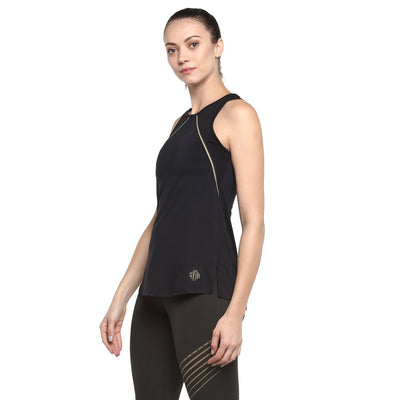 Gold Reflector Tank Black-Tank Top-Silvertraq-Silvertraq