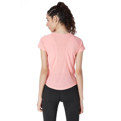 Endure Tee Peach-Tops-Silvertraq-Silvertraq