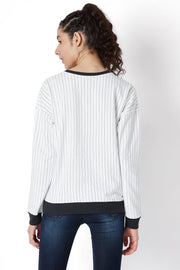 Baseball Stripe Sweat Shirt