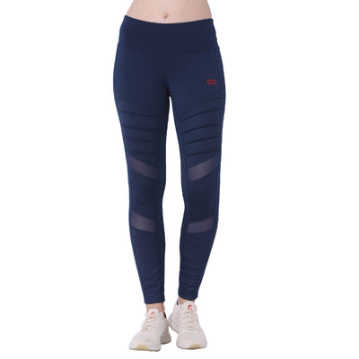Biker Moto Leggings Navy