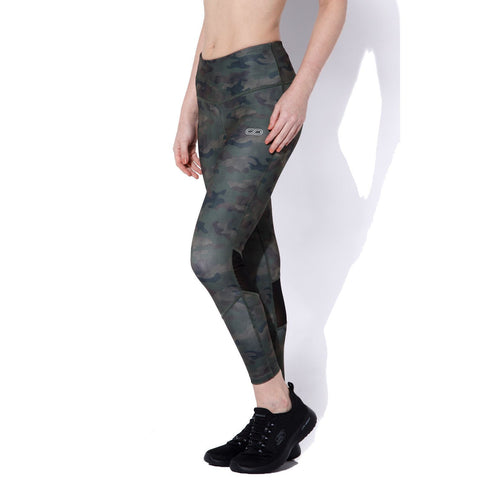 "Ath Perform High Waist 7/8 Leggings Army Camo-Sports Leggings HWC-Silvertraq-Army Camo-XS - 24 - 26""-Silvertraq"