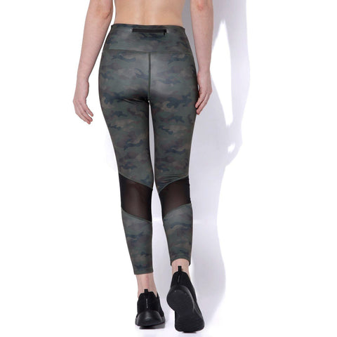 Ath Perform High Waist 7/8 Leggings Army Camo-Leggings-Silvertraq-Silvertraq