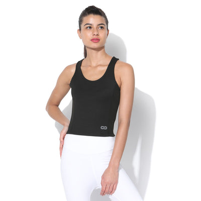 Performance Crop Tank Top Black-Top-Silvertraq-Black-XS-Silvertraq