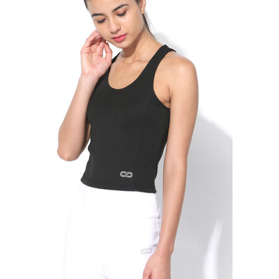 Performance Crop Tank Top Black-Top-Silvertraq-Silvertraq